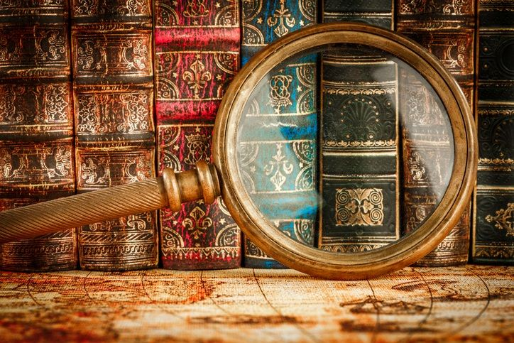 Books Magnifying glass