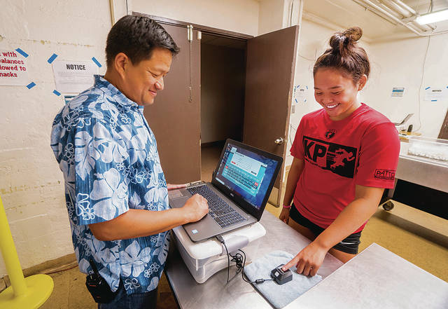 Hawaii Schools finger scanning